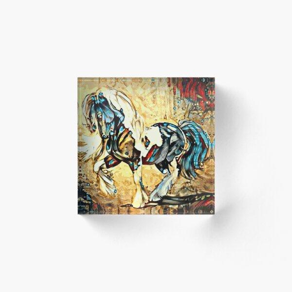 Gypsy Vanner Horse Illustration Acrylic Block