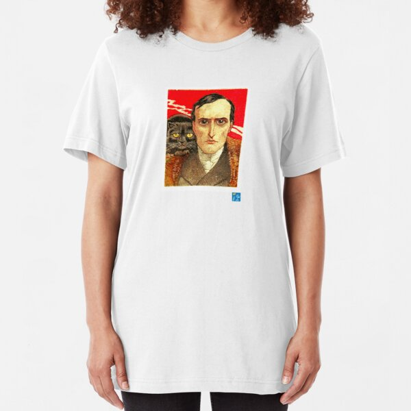 Cat and Man Slim Fit T-Shirt