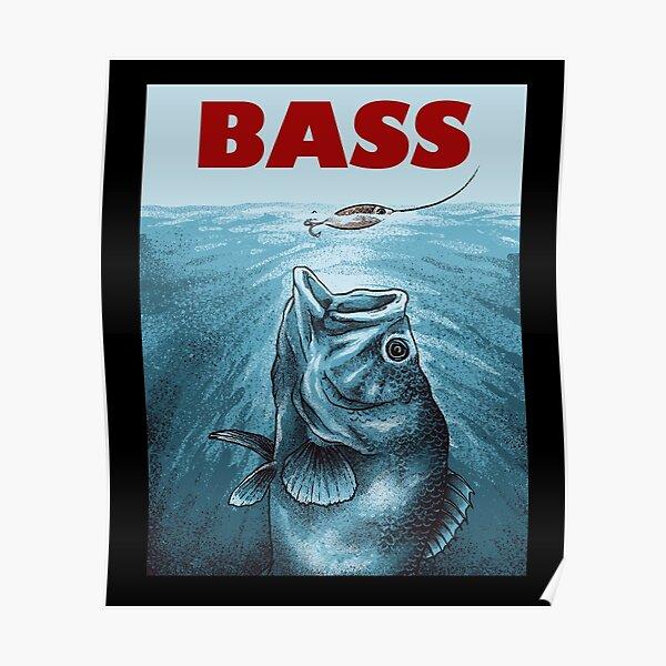 Funny Bass Fishing T Shirt | Largemouth Bass Fishing Tee Shirt Gifts Poster