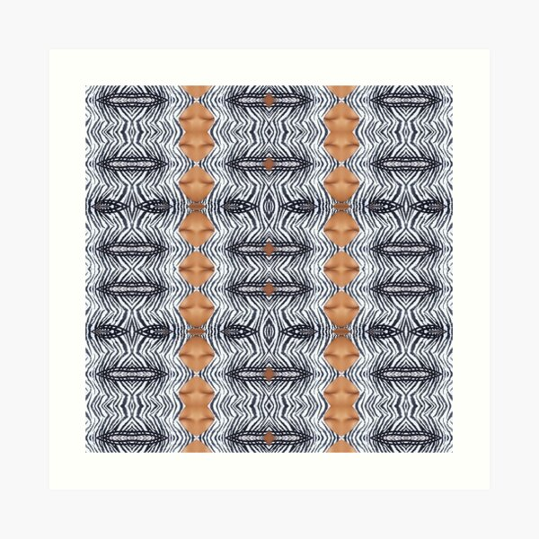 Tracery, weave, drawing, figure, picture, illustration, structure, framework Art Print