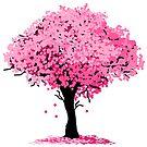 Sakura Cherry Blossom Tree by pda1986