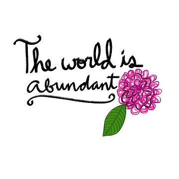 The world is abundant (inspired by Sufjan Stevens) by Empaddon