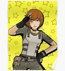 Satonaka Chie police costume Poster