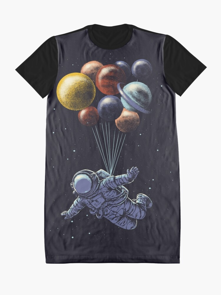 Alternate view of Space Travel Graphic T-Shirt Dress