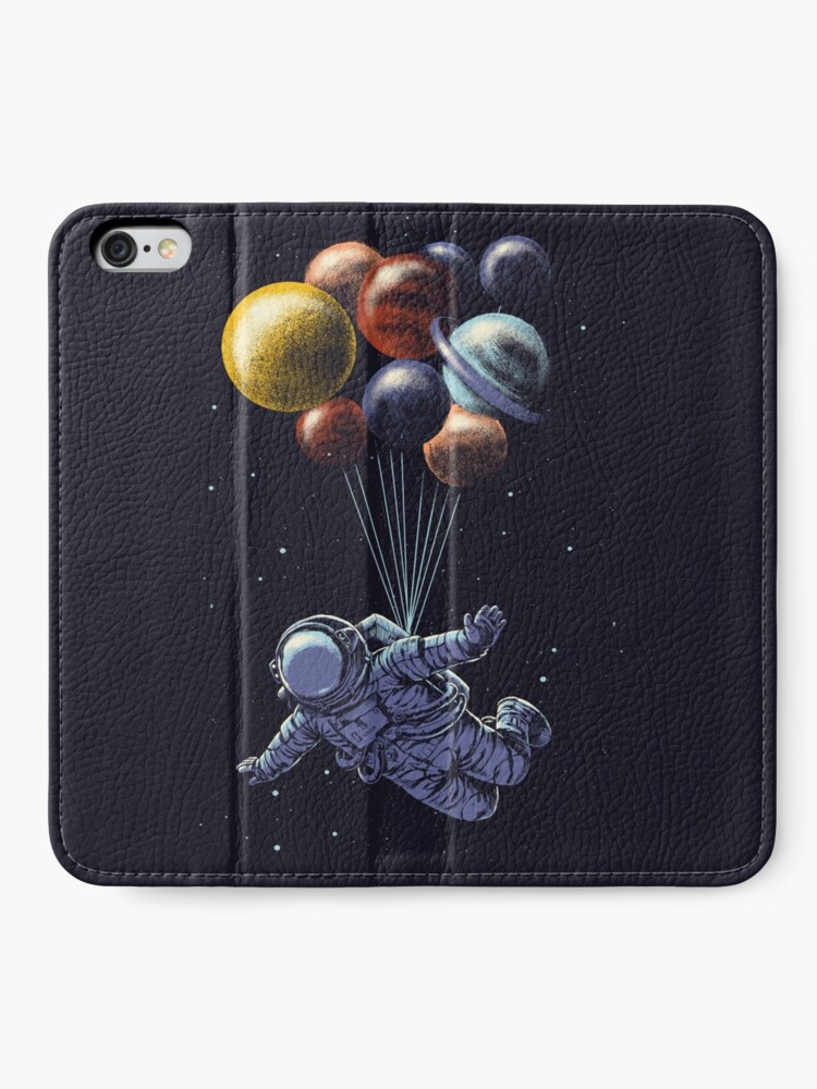 Alternate view of Space Travel iPhone Wallet