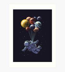 Raumfahrt Kunstdruck