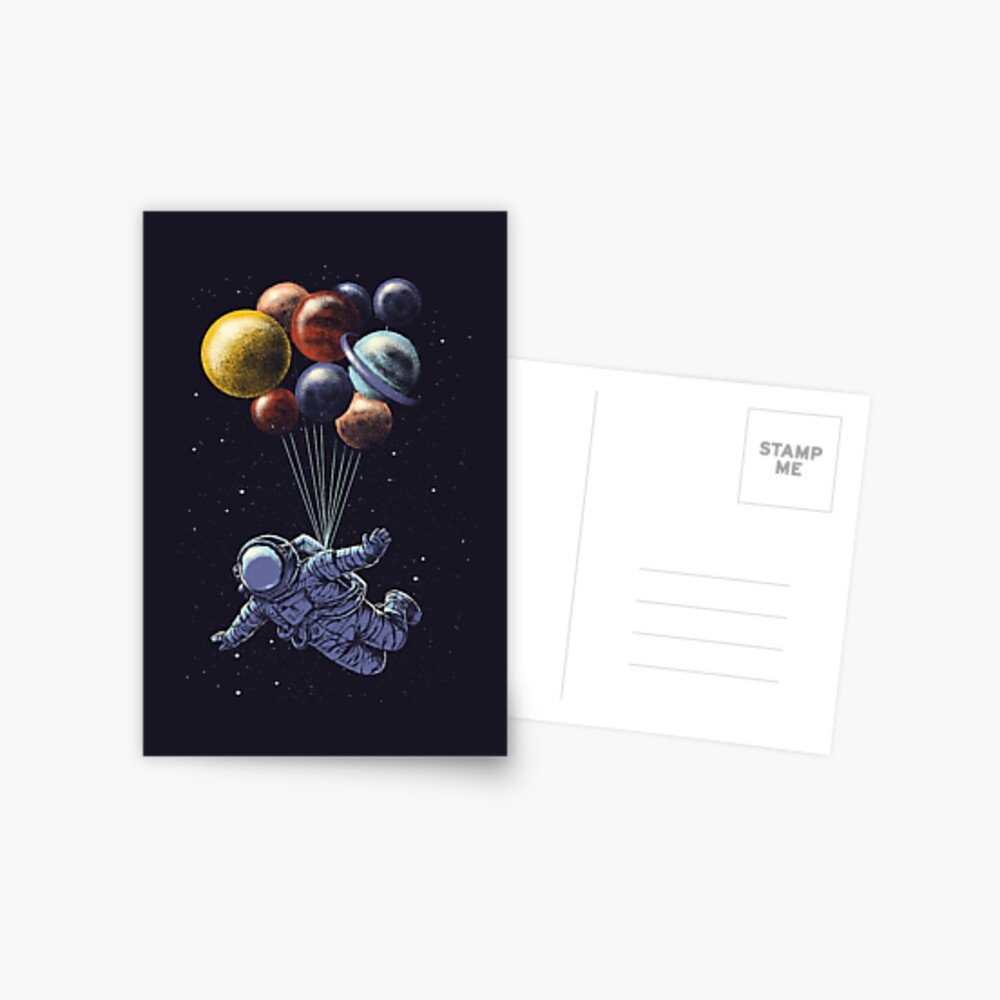 Space Travel Postcard