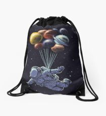 Space Travel Drawstring Bag