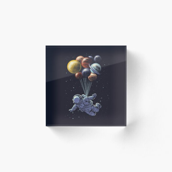 Space Travel Acrylic Block