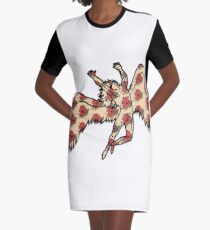 Led Zeppelin Angel with Roses Graphic T-Shirt Dress
