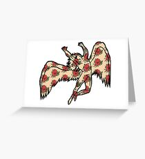 Led Zeppelin Angel with Roses Greeting Card