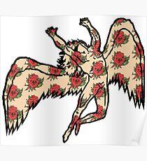 Led Zeppelin Angel with Roses Poster
