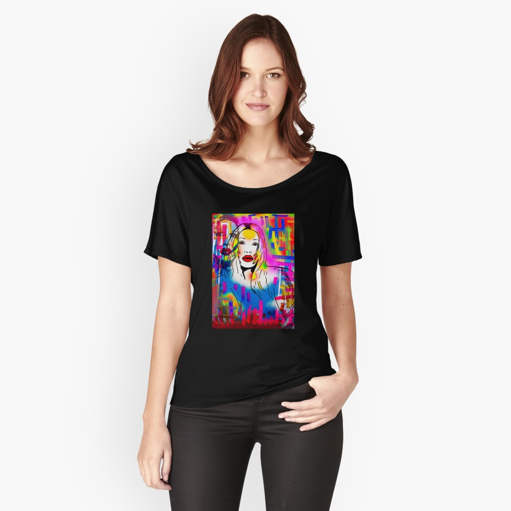 Pete Burns Collection Merchandise by Dusty O Women's Relaxed Fit T-Shirt Front