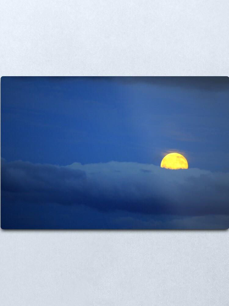 Alternate view of Yellow Moon Metal Print