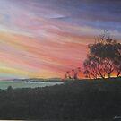 Sunset Aireys Inlet Lighthouse - Acrylic by Ken Tregoning