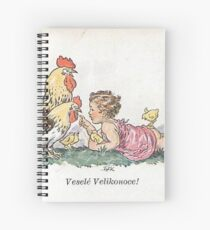 Vintage Tschechisch / Slowakisch Ostern Vesele Velikonoce! Spiralblock