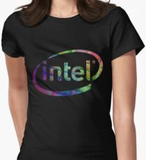 Intel Logo | Silicon CPU Women's Fitted T-Shirt
