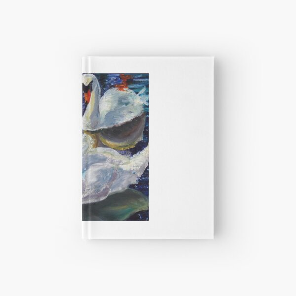 Perfect Pair of Mute of Swans  Hardcover Journal