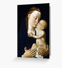 Dieric Bouts Virgin and Child Greeting Card