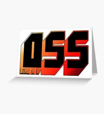 OSS BJJ Greeting Card