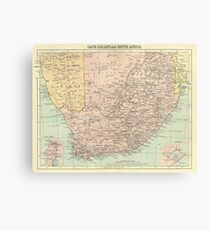 Vintage Map Of Cape Colony & South Africa 1920s Canvas Print