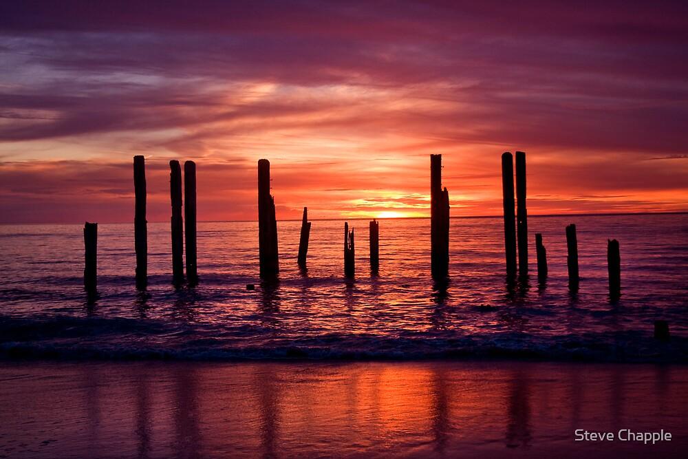 Port Willunga Jetty by Steve Chapple