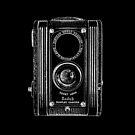 Kodak Duoflex with White Outline by RetroArtFactory