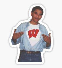 University of Wisconsin Obama Supreme Sticker
