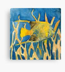 fish beach sealife art Canvas Print