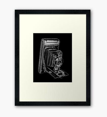 Kodak Hawkeye Camera with White Outline Framed Print