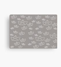 Paper boat fresh gray Canvas Print