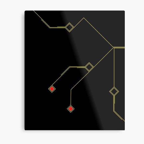 Geometric printed circuit board Metal Print