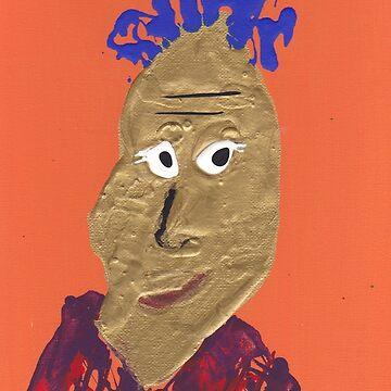 «L'africain - Martin Boisvert - Faces à flaques» par martinb1962