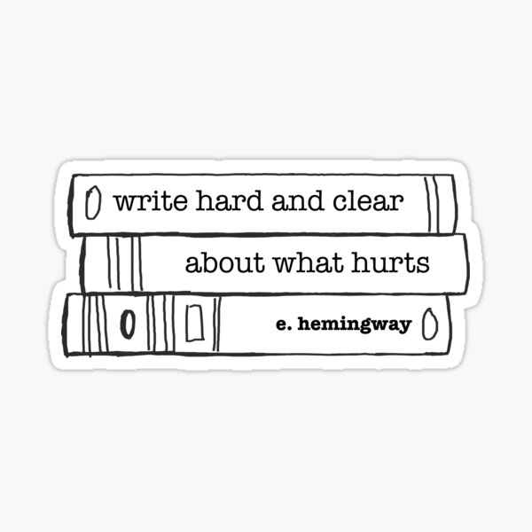 Write Hard and Clear Sticker