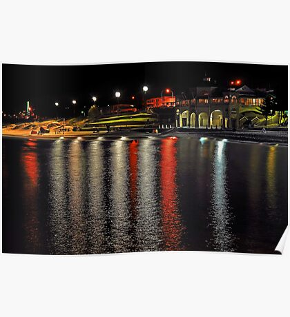Cottesloe Beach At Night  Poster