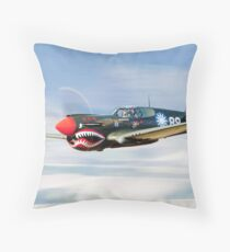 P-40  FLYING  TIGER Throw Pillow