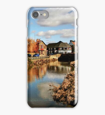 Refelctions in the River Leven at Great Ayton iPhone Case/Skin