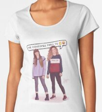 Miriam and Aitana - OT 2017 Women's Premium T-Shirt