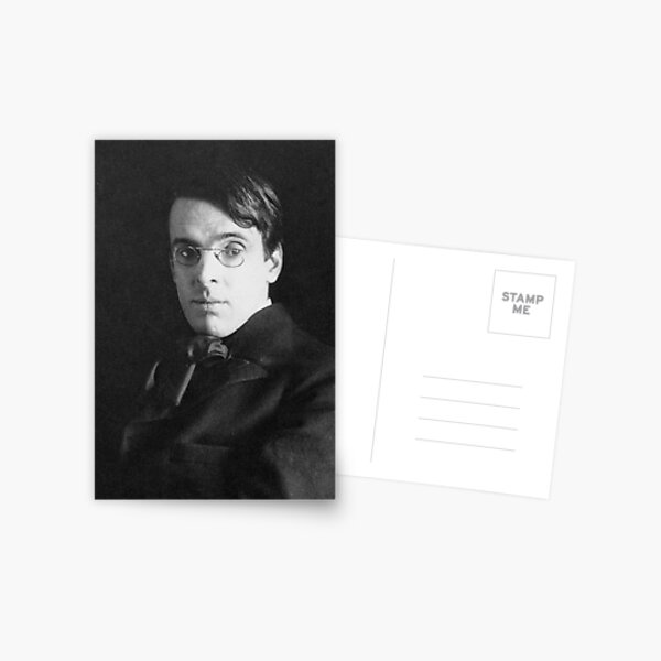 William Butler Yeats photograph, by Alice Boughton in 1903 Postcard