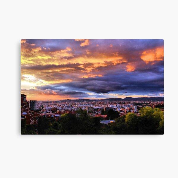 Bogotá Sunset (Colombia, South America) Canvas Print