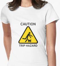 "Hazkatz ""Trip Hazard"" Women's Fitted T-Shirt"