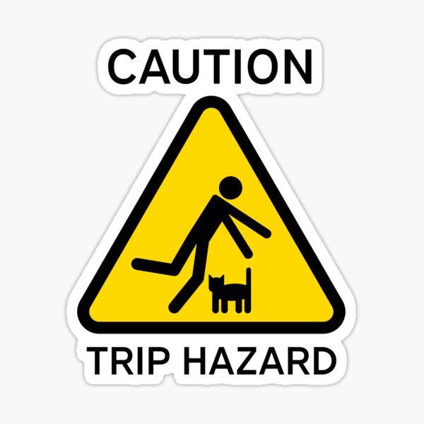 """Hazkatz """"Trip Hazard"""" Sticker"""
