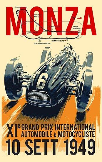 Quot Monza Grand Prix Vintage Auto Racing Print Quot Poster By