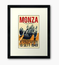 MONZA GRAND PRIX; Vintage Auto Racing Print Framed Print