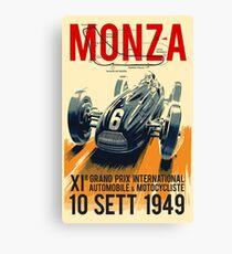 MONZA GROSSER PRIX; Vintage Auto Racing Print Leinwanddruck