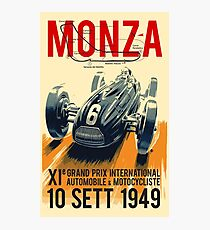 MONZA GRAND PRIX; Vintage Auto Racing Print Photographic Print