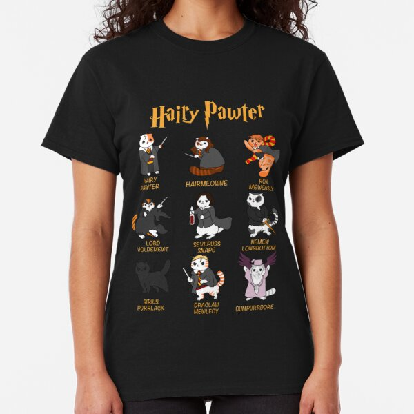 Vintage Funny Hairy Pawter For Cat Lovers  Classic T-Shirt
