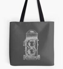 Mamiya C220 with White Outline Tote Bag