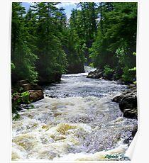 Dorwin Falls, Rawdon, Quebec, Canada Poster
