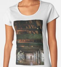 Wooden Palace roof 1306 Bishop's Palace Beauvais France 19840827 0051  Women's Premium T-Shirt